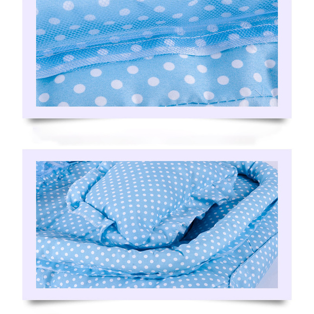 Pink/Blue 2018 New Baby Mosquito Bed net Infants Sleeping Pad Pillow Yurt Bedspread Mosquito Net collapsible portable