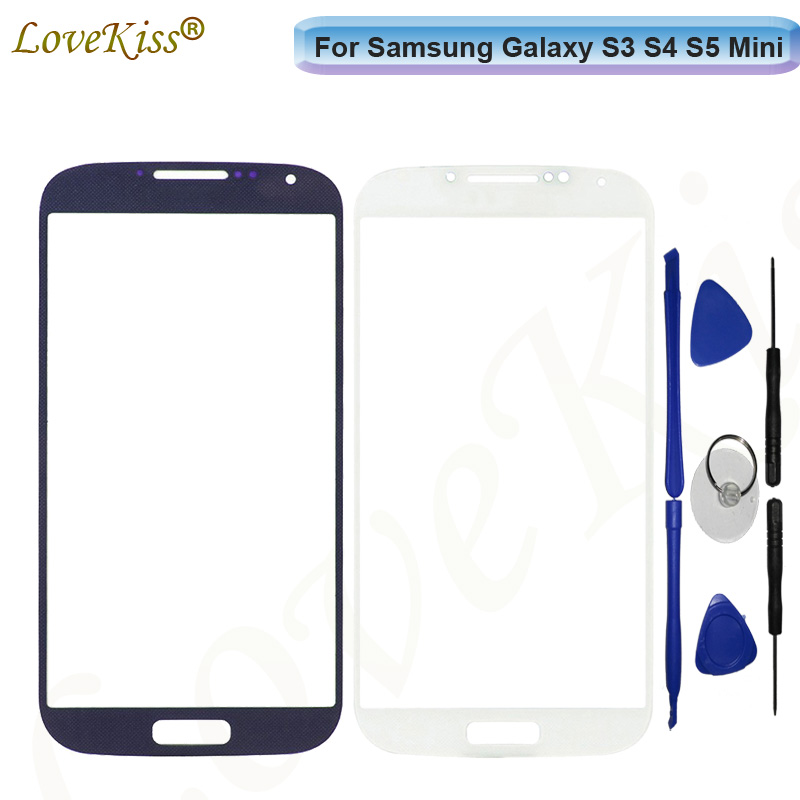 For Samsung Galaxy S3 S4 S5 Mini i8190 i9190 G900 Touch Screen LCD Display Front Outer Glass Panel Lens Cover Repair Replacement image