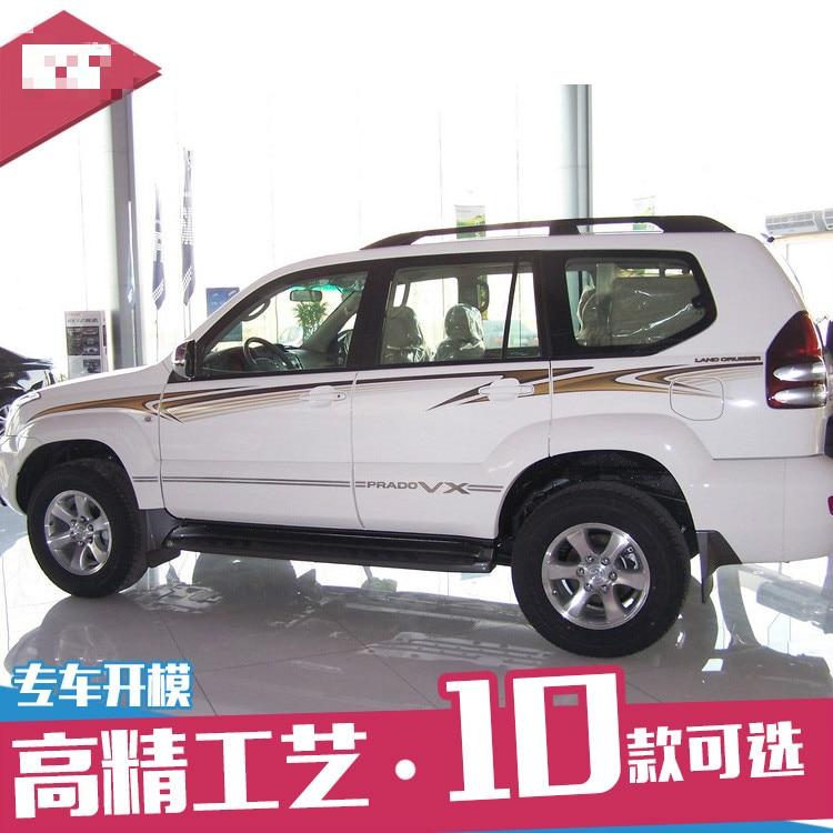 Pour Toyota Prado 4000 04-09 voiture autocollants Prado corps couleur bandes modifiées autocollants taille ligne tirer fleurs