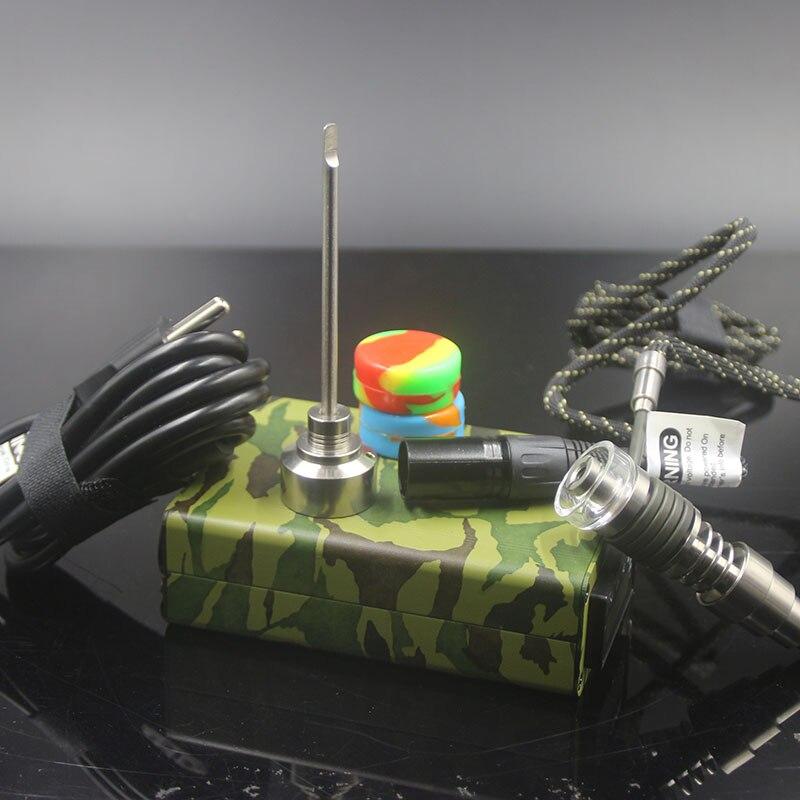 Coloré numérique électronique D clou Dab chauffage C titane ongles dôme moins d-nail cire Carb Cap Silicone pots Enail livraison gratuite