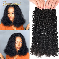 Indian Human Remy Hair Double Drawn Flexi Curls Funmi Hair Bundles Kinky Curly Hair Pixie Curl 1 3 4 PCS Free Shipping 1b sale