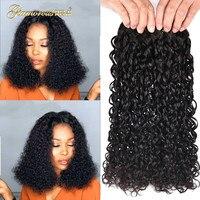 Indian Human Remy Hair Double Drawn Flexi Curls Funmi Hair Bundles Kinky Curly Hair Pixie Curl 1 3 4 PCS Free Shipping 1b sale