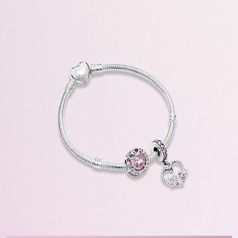 Fits Original Jewelry Charm DIY Ladies Party Gift Sterling Silver 925 Pink Cat Eye Stone Beads Dazzling Love Bird BraceletFits Original Jewelry Charm DIY Ladies Party Gift Sterling Silver 925 Pink Cat Eye Stone Beads Dazzling Love Bird Bracelet