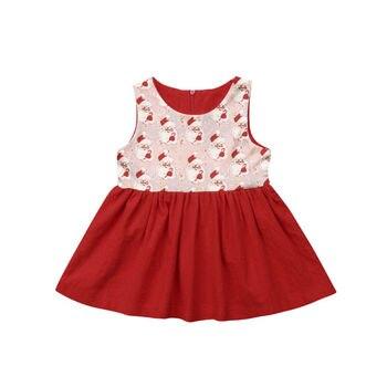 43930c9839fc 6M-5Y niños bebé niña vestido sin mangas de flores volantes fiesta boda  cumpleaños vestido para ...