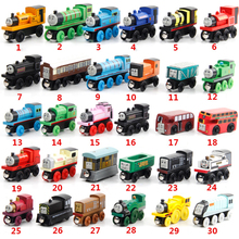 Wooden Locomotive Trains Toys Cartoon Vehicles Railway Car Accessories