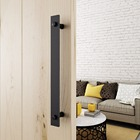 Matte Black Flat Bar Door Handles Steel Barn Door Handles Pulls