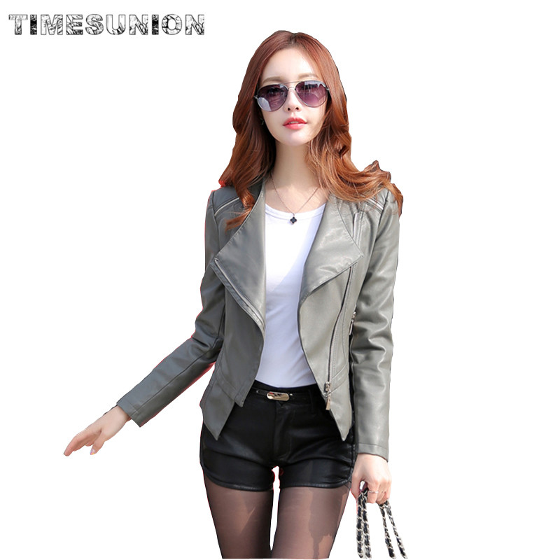 Faux Soft Leather Jacket Women 2018 New Fashion Spring Women Pu Black Blazer Zippers Coat Motorcycle Outerwear Plus Size 5XL 4XL