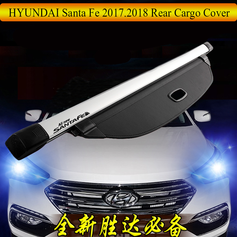 For <font><b>HYUNDAI</b></font> <font><b>Santa</b></font> <font><b>Fe</b></font> 2017.2018 Rear Cargo Cover privacy Trunk Screen Security Shield shade Auto <font><b>Accessories</b></font> image