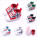 Spring new 0-1 year-old baby toddler shoes / flag baby shoes / boys and girls slip toddler shoes soft bottom