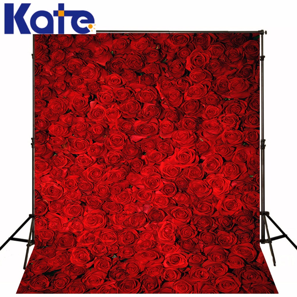 Kate 10x10ft  New Red Rose Flowers Background 3D Romantic Backdrops Wall Photography Coiffeuse Avec Miroir Photo Background