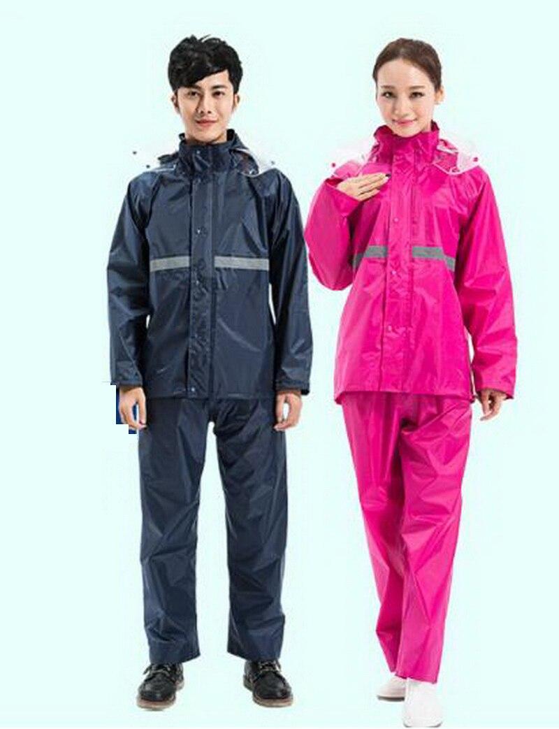 Imperméable ensemble de pantalon/épaississement imperméable à l'eau en plein air moto vélo électrique unique imperméable pour adulte/161129