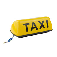 12V 11inch Taxi Cab Sign Roof Top Topper Car Magnetic Sign Lamp Light Waterproof