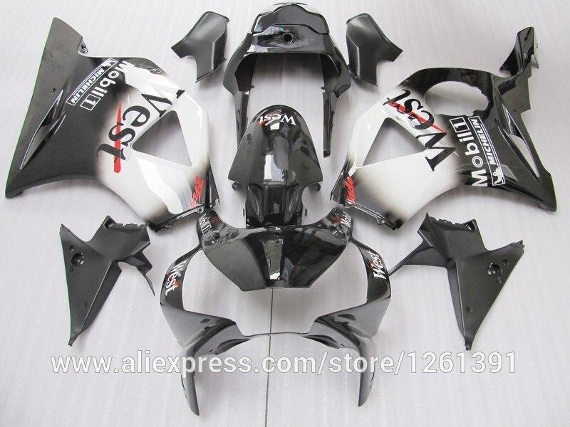 WEST комплект обтекателей для HONDA CBR900RR 954 02 03 900RR 2002 2003 CBR954 02 03 954RR 02 03 черные белые Обтекатели части#55