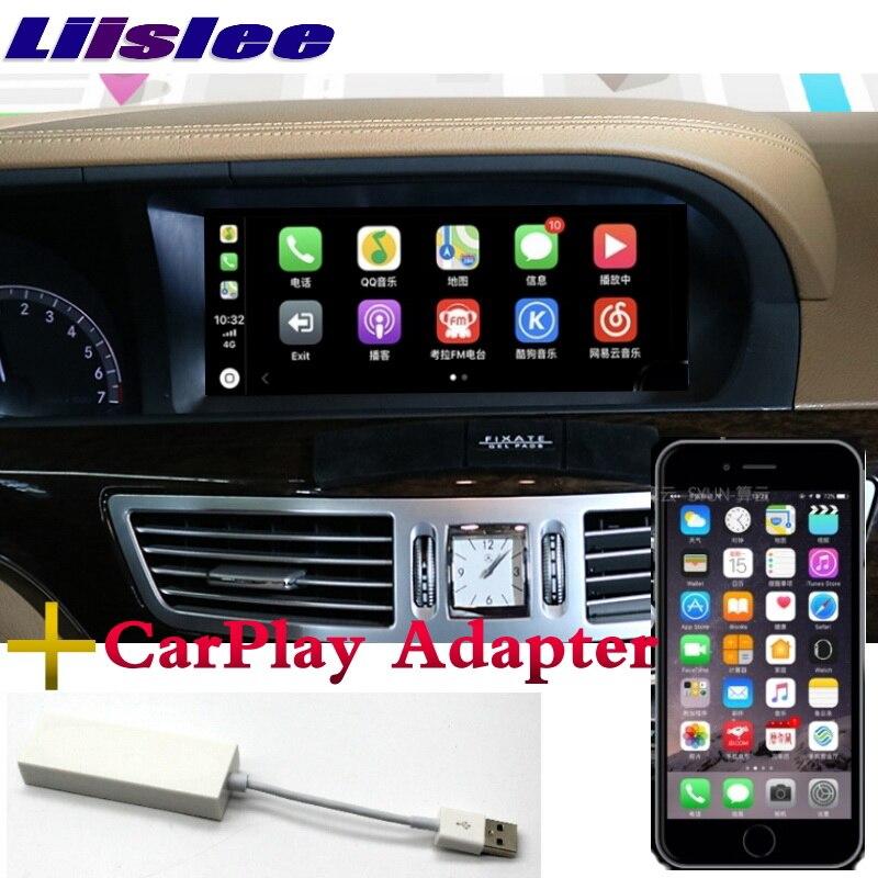 Lecteur multimédia de voiture Liandlee NAVI 2 grammes pour Mercedes Benz S W221 S280 S320 S400 S63 2006 ~ 2013 CarPlay Radio GPS Navigation