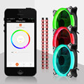 3pcs RGB Fan 120mm And RGB LED Strip With Mobile Phone APP Fan Controller Adjustable RGB LED Ring Case Radiator Cooling Fan 12cm