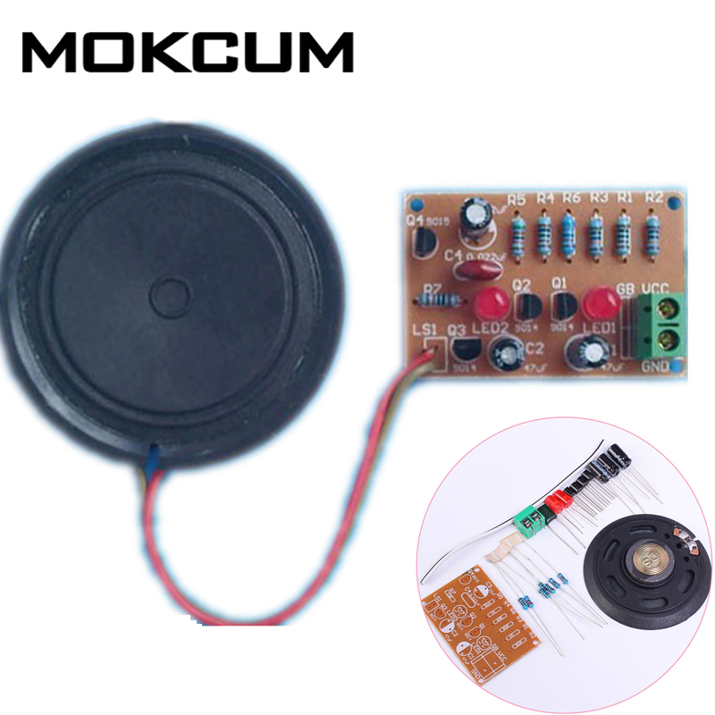 Zikade Sound Analog Schaltung Suite Multivibrator DIY Kits Hohe und Niedrigen Frequenz Musik Signal Simulation Zikade Stimme Elektronische