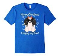 Wesołych Świąt Szczęśliwego Nowego Roku Pies Najlepszy T Shirt Japoński Podbródek nowy Przyjazd Mężczyzna Tees Casual Boy T-Shirt Topy Rabaty Top Tee