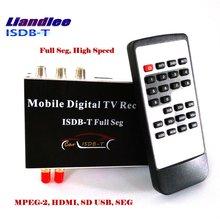 Liandlee HD Full Seg ISDB-T Car Digital TV Receiver Host D-TV Mobile HD TV Turner Box HDMI / 2 Signal Antenna/ ISDB-T-M-389F car digital tv isdb t brazil digital tv receiver for south american countries