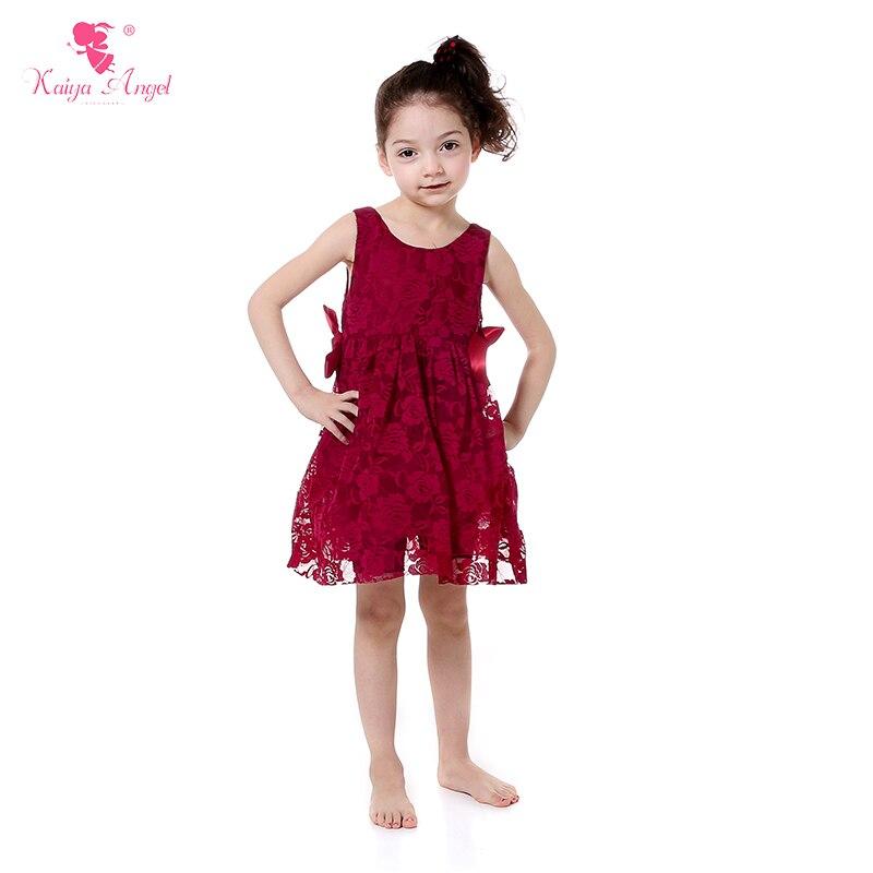 b55c8fcf9b586 2018 Hot Lace Bow Wedding Princess Toddler girls Summer flower Dresses Fall  Toddler winter Baby Party Dress Kids Elegant