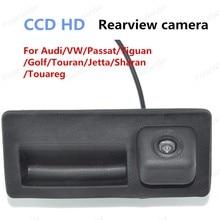 ¡ Caliente!! CCD a prueba de agua Para Audi/VW Passat/Tiguan/Golf/Touran/Jetta/Sharan/Touareg cámara de Vista Trasera del coche