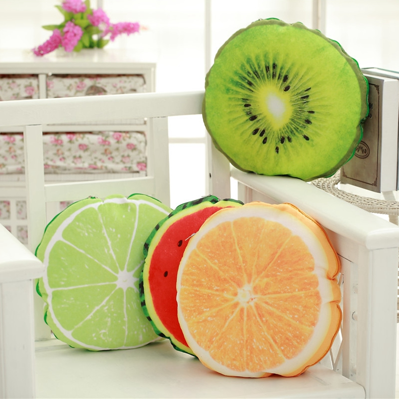 1PCS 40cm Fruit Print Pillow Cushion with 150cm blanket inside Birthday Gifts Home Decor ST539