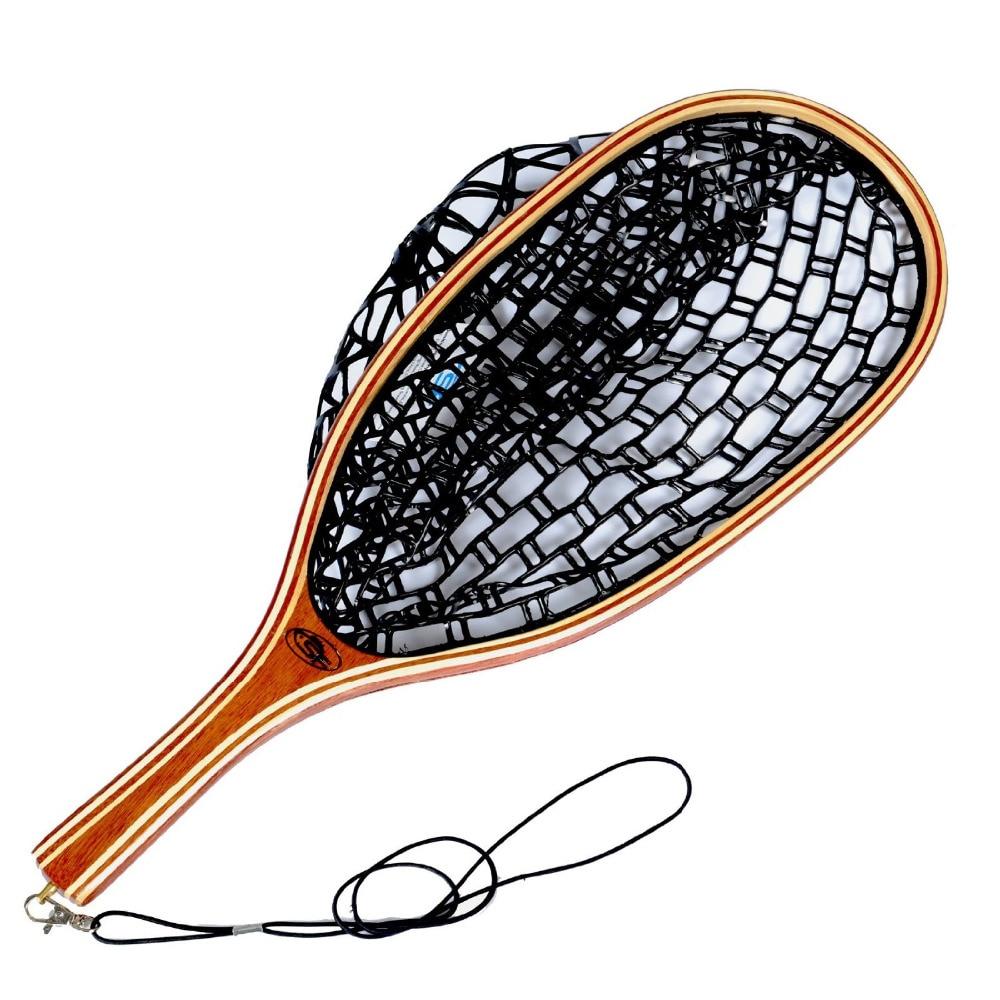 Popular rubber landing net buy cheap rubber landing net for Wooden fishing net