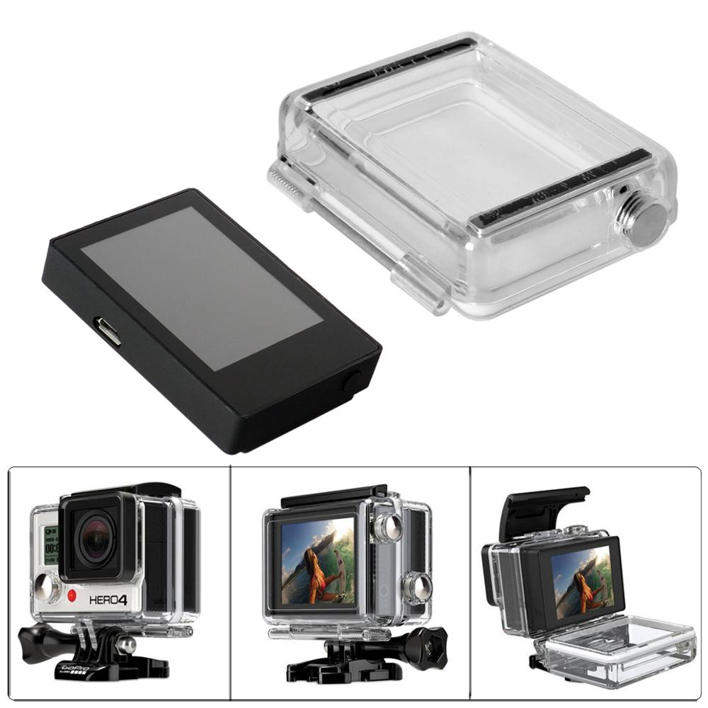 For GoPro BacPac Lcd Display Monitor For Gopro Hero 3+4 Bacpac Lcd Screen+Back Door Case Waterproof  Housing Cover Accessories