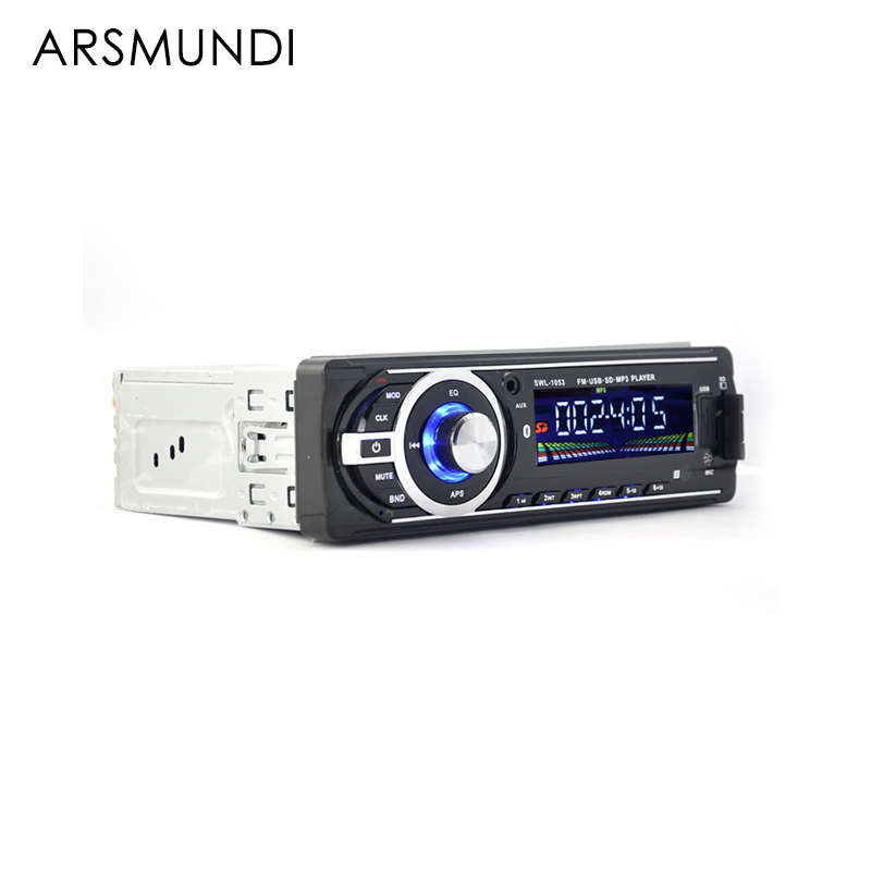 autoradio bluetooth car radio 12v v2 0 car audio stereo in dash 1 din fm aux input receiver sd. Black Bedroom Furniture Sets. Home Design Ideas