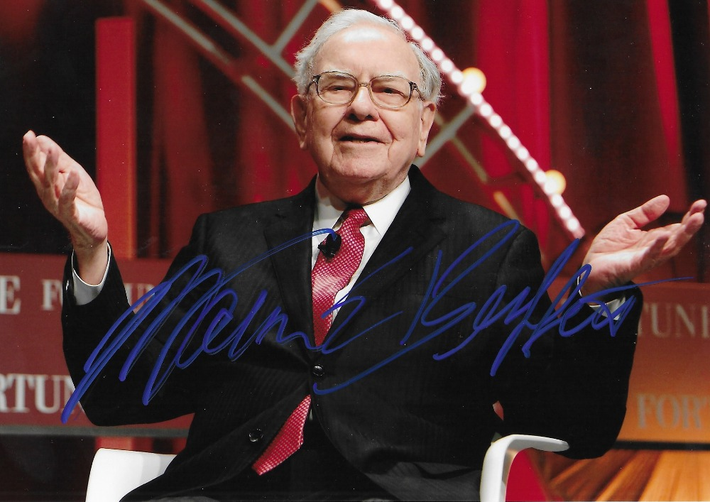 Warren Buffett autographed signed photo 5 7 inches authentic freeshipping 032018BB