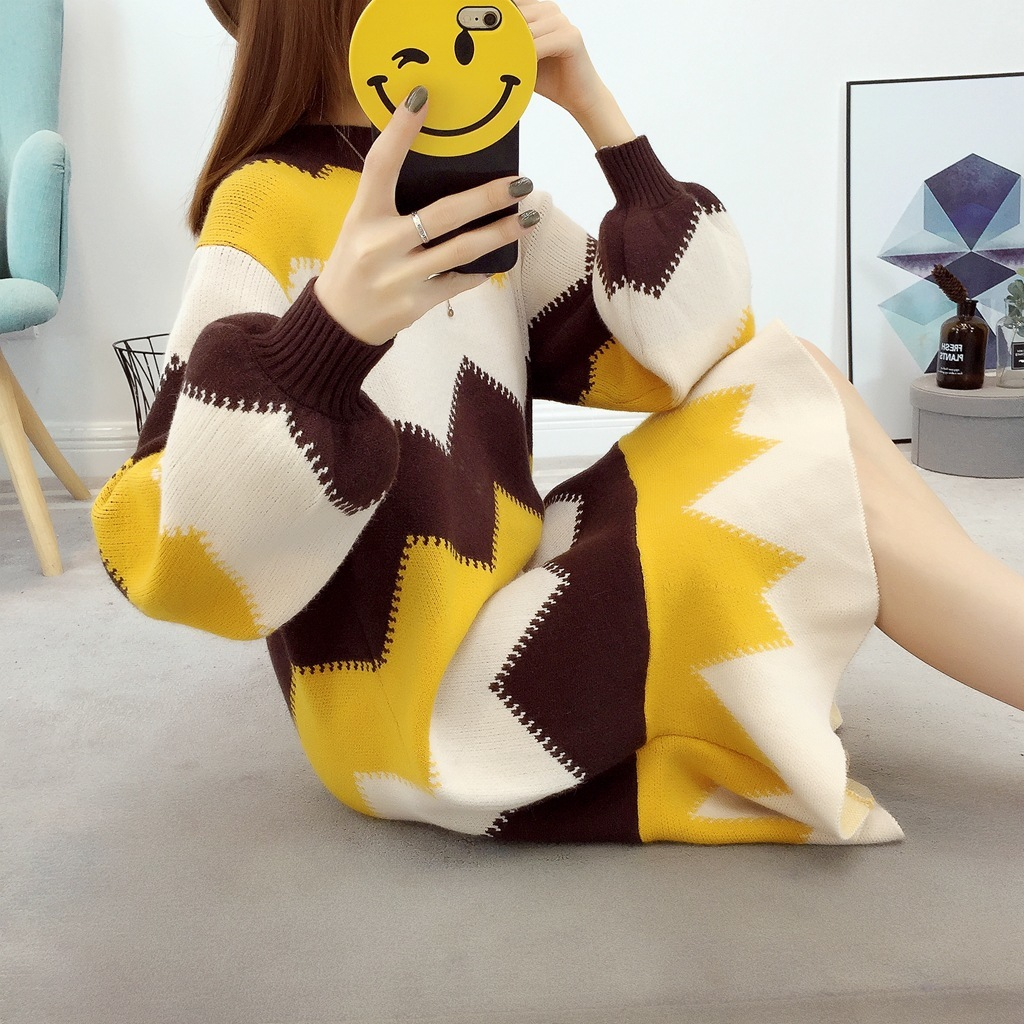 2018 Real Poncho Sweater Pullover Autumn And Winter New Pattern Wave Long Fund Knitting Fish Tail Skirt Rendering Loose Coat