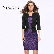 Summer Dress Womens Elegant 2 piece set women Belted Tartan Patchwork Wear to Work Business Lace