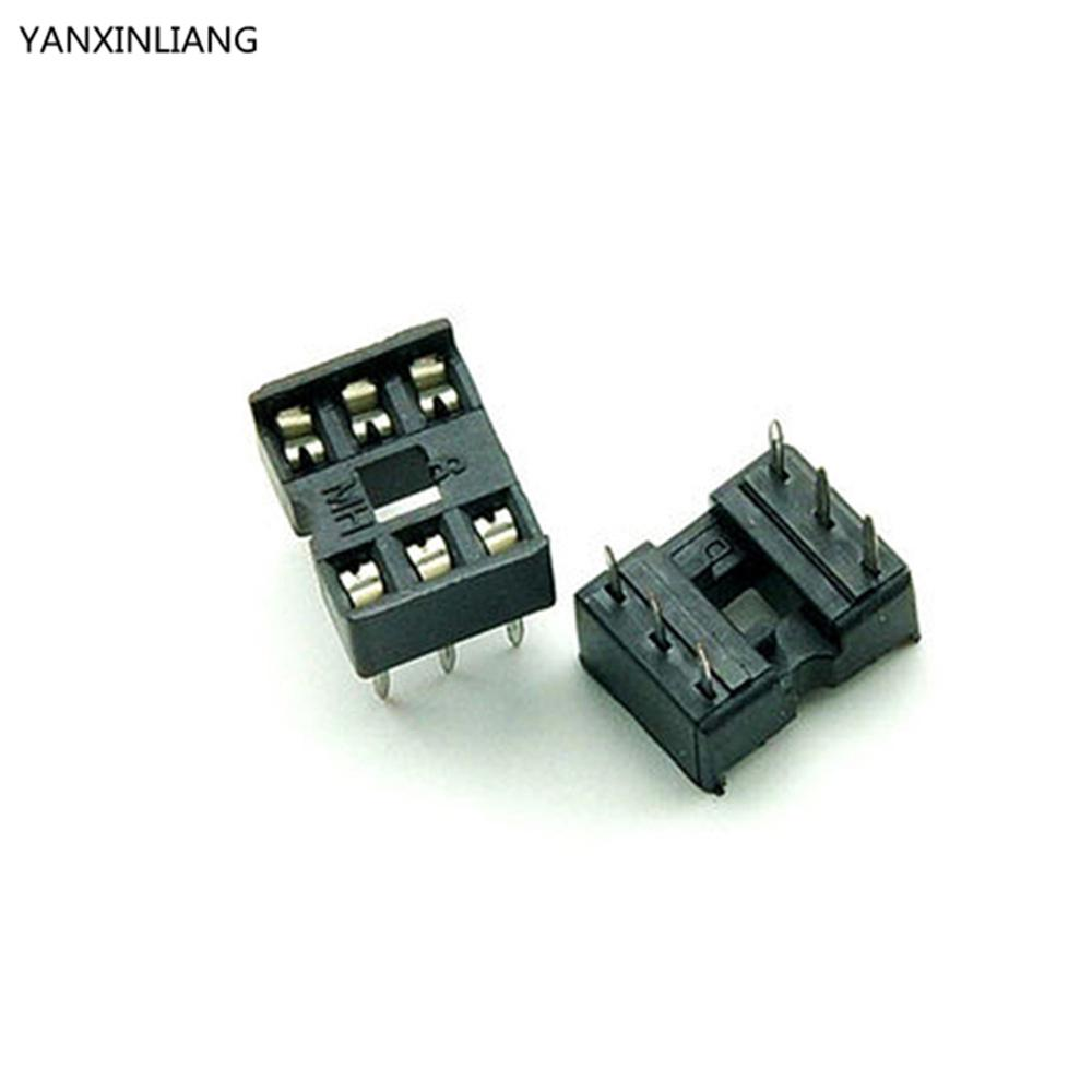 80PCS/Lot 6 Pin DIP Square Hole IC Sockets Adapter 6Pin Pitch 2.54mm Connector купить в Москве 2019