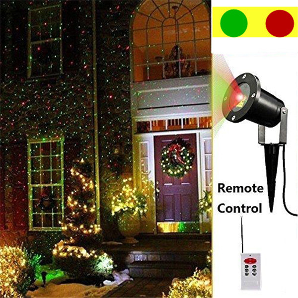 Laser Christmas Lights.Us 37 2 38 Off Waterproof Outdoor Laser Christmas Lights Red And Green Waterproof Ip67 Magic Garden Spotlight Star Projector In Novelty Lighting