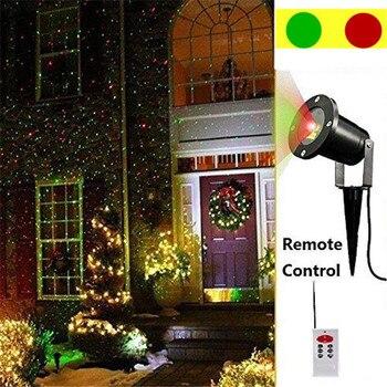 Waterproof Outdoor Laser Christmas Lights,Red and Green Waterproof IP67 magic Garden Spotlight Star projector