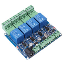 DC 12V 4 Channel Relay Module STM8S103F3 Relay Board Microcontroller RS485 Communication Relay Module