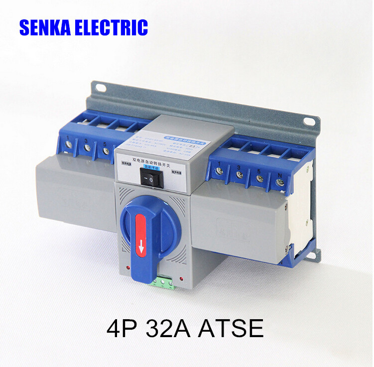 63A 32A 4P 380V Automatic Transfer <font><b>Switch</b></font> MCB Type MINI Intelligent Dual Power <font><b>ATS</b></font> image