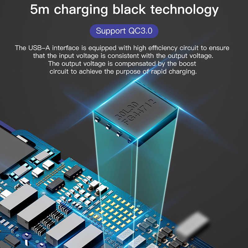 Baseus 5 متر طويل USB نوع C كابل لسامسونج S10 شحن سريع USB-C نوع-C كابل علامة هواوي شياو mi mi 9 Oneplus 6T USBC شاحن
