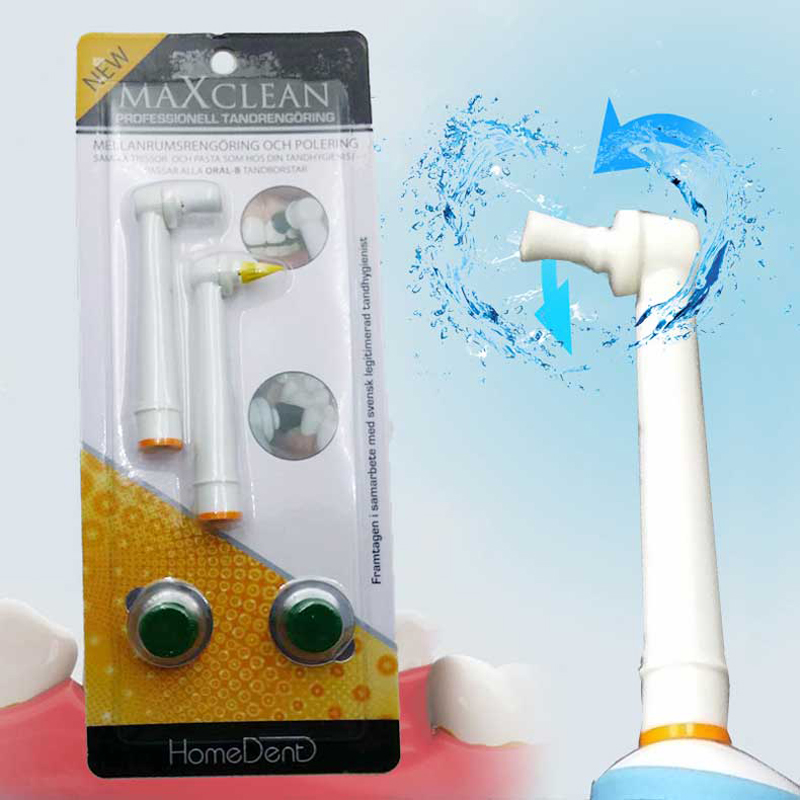 Electric Toothbrush Polishing Head For Oral B Electric Toothbrush Teeth Whitening Remove Teeth Stain 2 Pc/Pack