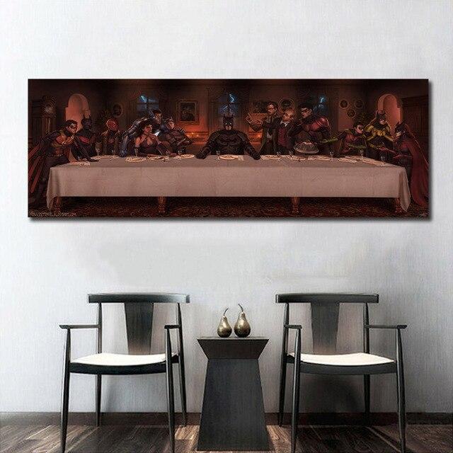 Gangster Last Supper Supper Man Superhero Wall Art Paint Decor Silk ...