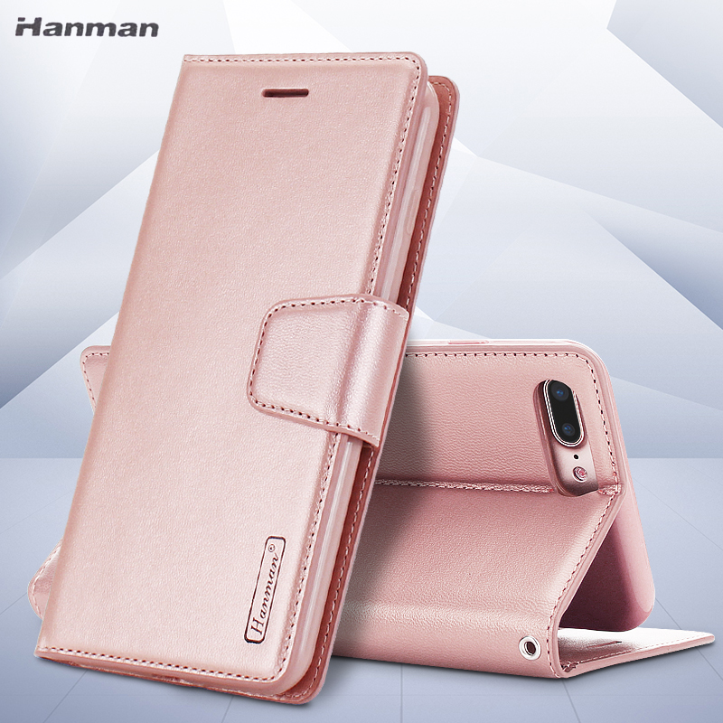 For iPhone 5S SE 6S Plus 7 Plus 8 Luxury Book Style Lambskin PU Leather Wallet Case Silicon Back Cover Case withCard Slot