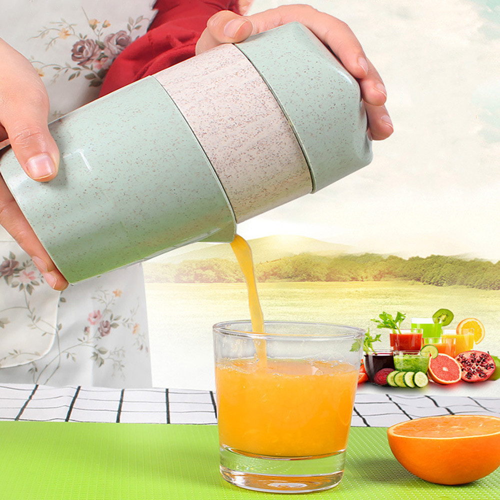 Juicer Wheat Straw Material Press Fruit Juicer Fruit Squeezer For Citrus Orange Lemon Mini Portable Juicer Machine
