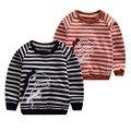 2016 das Crianças listrado sweatershirt roupas de algodão do bebê das meninas Dos Meninos outono Esportes desgaste dinossauro com capuz bebê roupas casuais