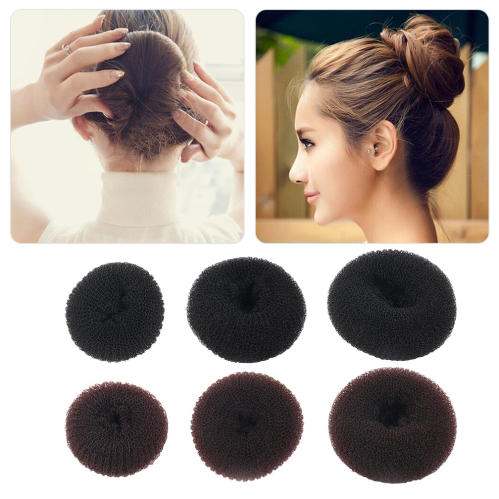 Cute Women Girls Sponge Bract Head Meatball Head Hair Bun