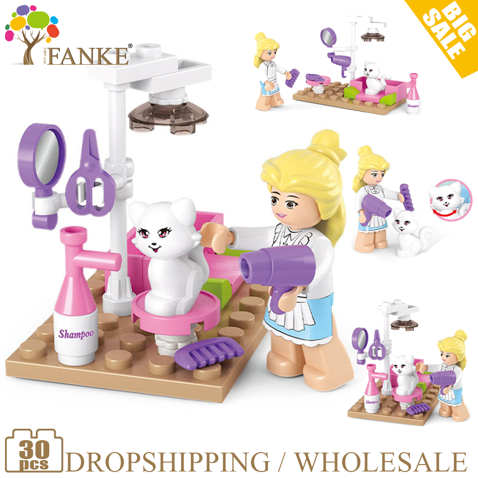 0515 30pcs Girl's Dream Constructor Model Kit Blocks Compatible sluban  Bricks Toys for Boys Girls Children Modeling