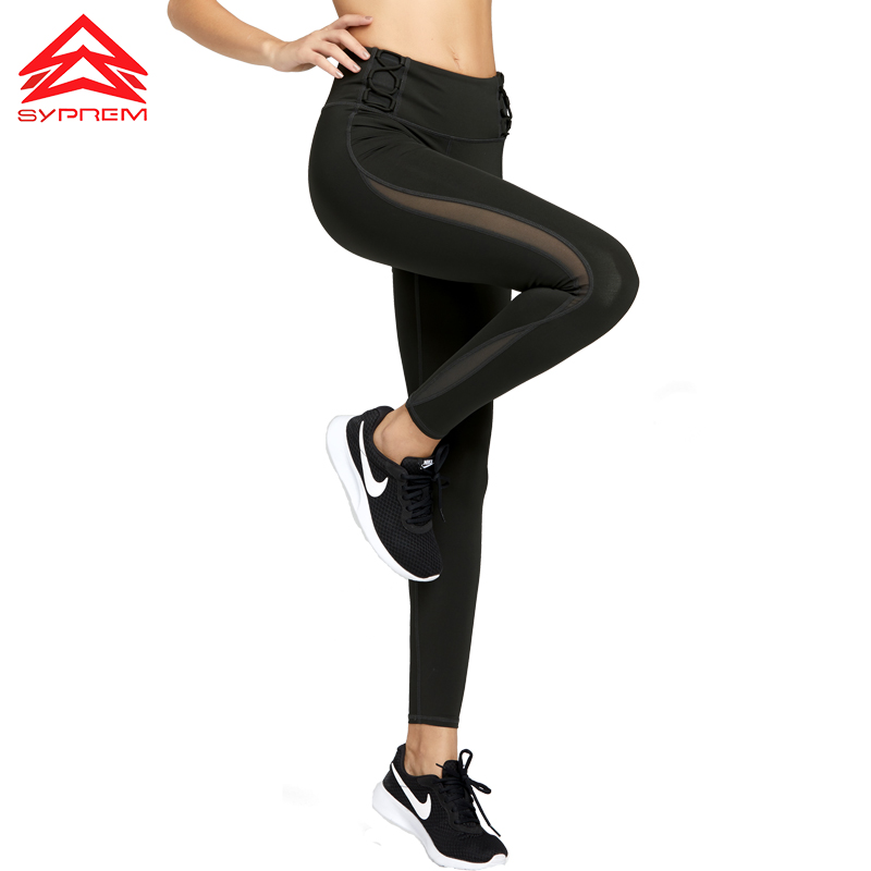 17e492286 SYPREM Yoga Pants Women Mesh High Waist Yoga Pink Leggings For Sports High  Elastic New Sexy