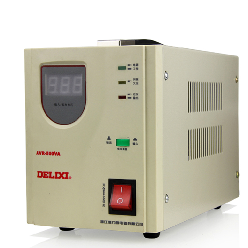 Delixi voltage stabilizer automatic Household AC regulator TV PC Refrigerator voltage regulator AVR-500W Y delixi voltage stabilizer automatic household ac regulator tv pc refrigerator voltage regulator avr 500w y