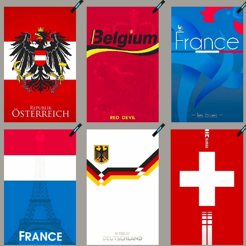 Austria Bélgica Francia Suiza Alemania Secado rápido Toalla Toalla - Ropa deportiva y accesorios