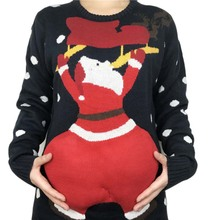 Funny Cute Big Butt Santa Claus Ugly Christmas Sweaters for Men and Women Tacky Hippy Xmas Pullover Jumper Plus Size S-XL