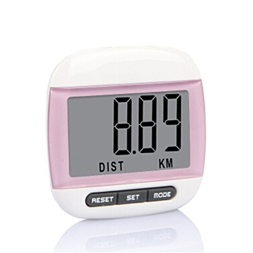 LGFM-Multi-function Pedometer Distance Calorie Counter Measurements Pink