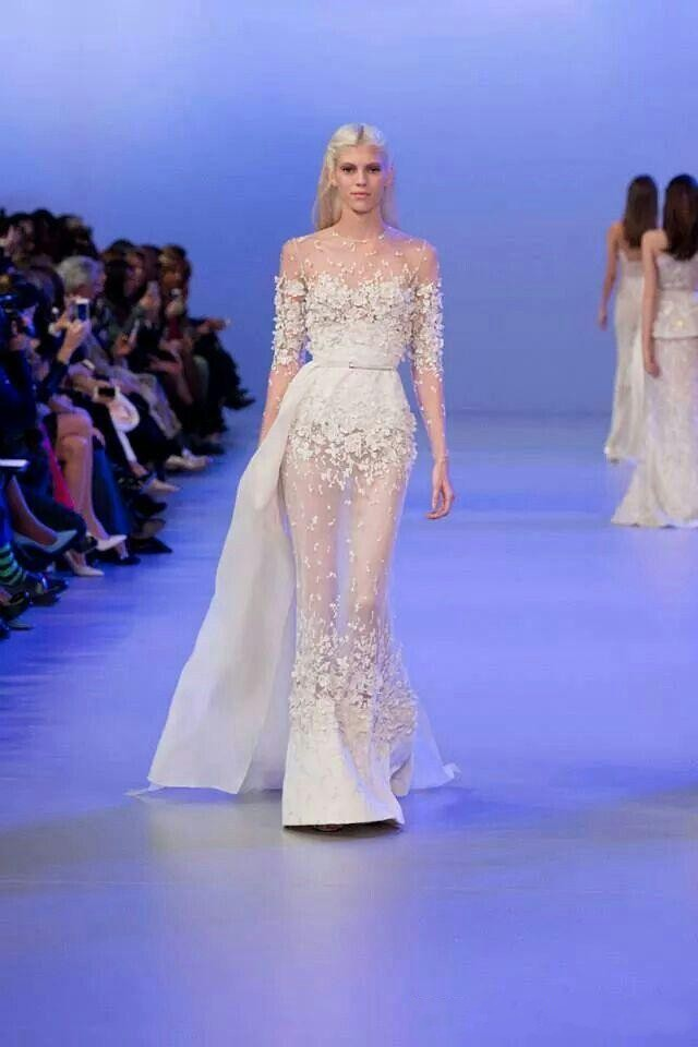 2878b7cd8b0 Elie Saab Couture Dress Evening Dresses Flora Applique 2016 Long Sleeve  Illusion Prom Gowns Plus Size Special Occasion Dress-in Evening Dresses  from ...